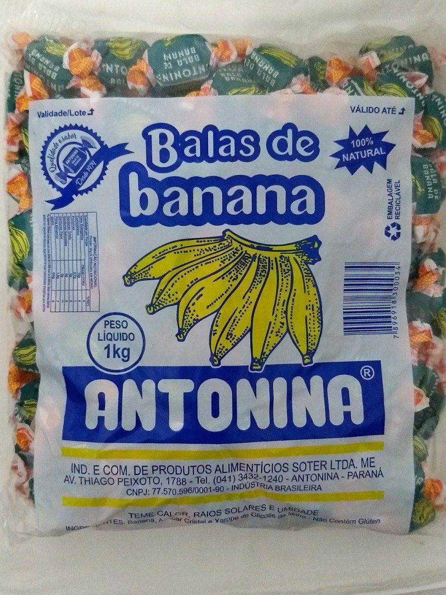 BALA DE BANANA ANTONINA 1KG