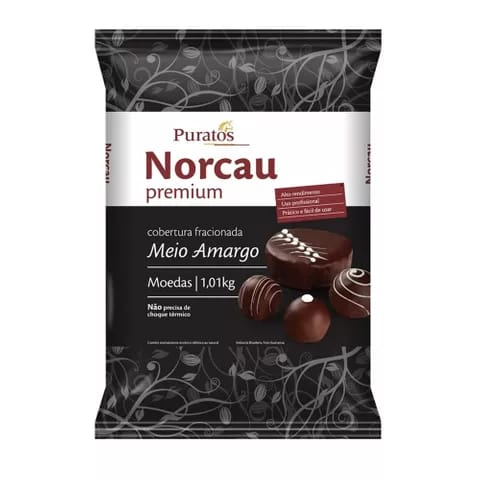 CHOCOLATE FRACIONADO COBERTURA GOTAS MEIO AMARGO 1,01KG - NORCAU PREMIUM