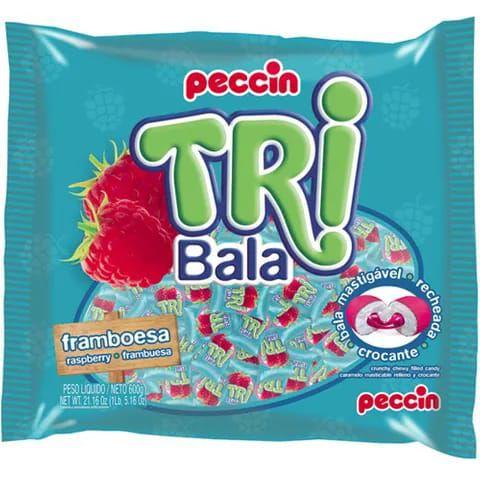 TRI BALA RECHEADA FRAMBOESA 500G - PECCIN