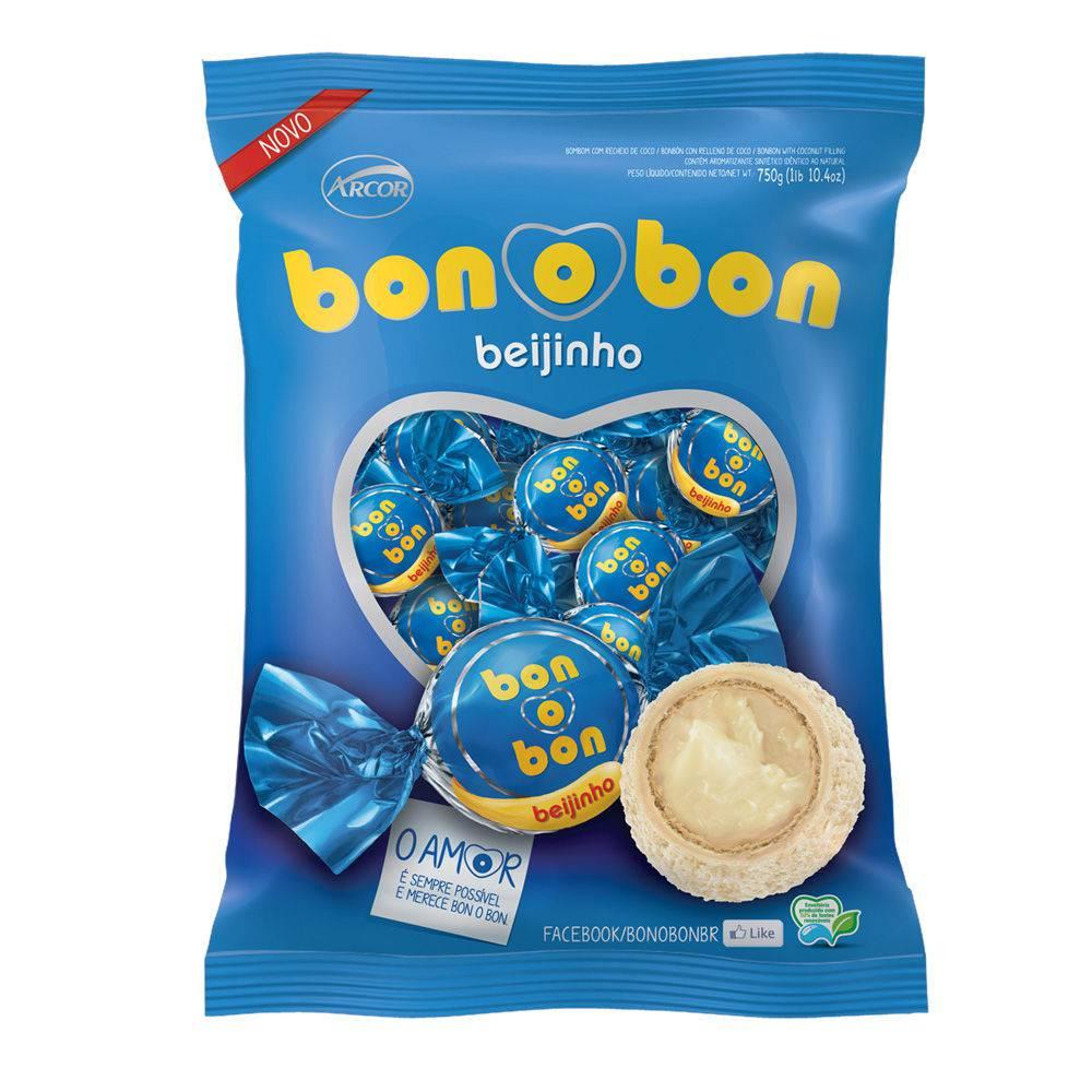 BOMBOM BONOBON BEIJINHO 750G C/50 - ARCOR