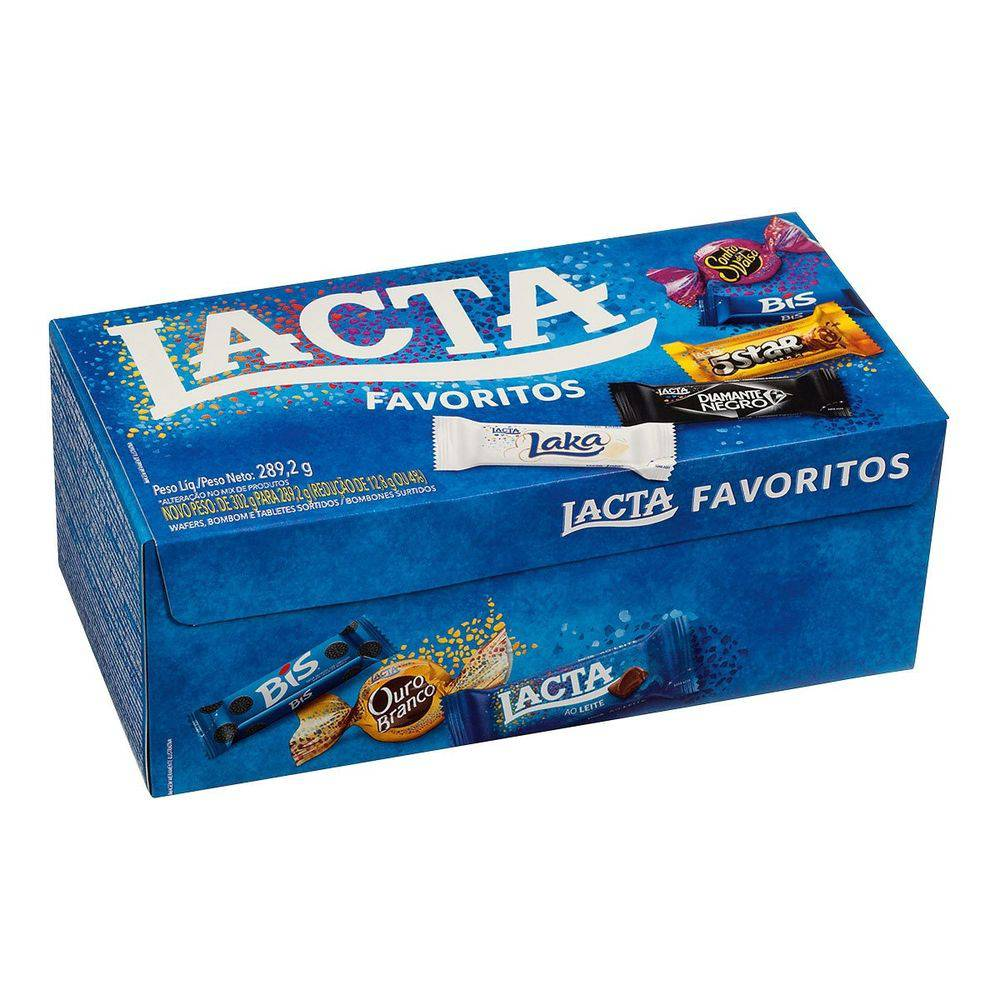 BOMBOM LACTA CHOCOLATES FAVORITOS 250,6G - LACTA