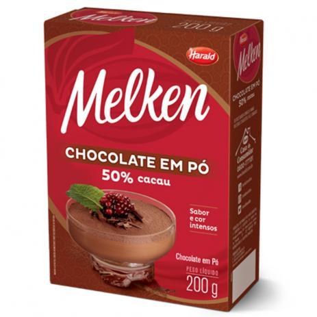 CHOCOLATE EM PÓ 100% CACAU MELKEN 200G