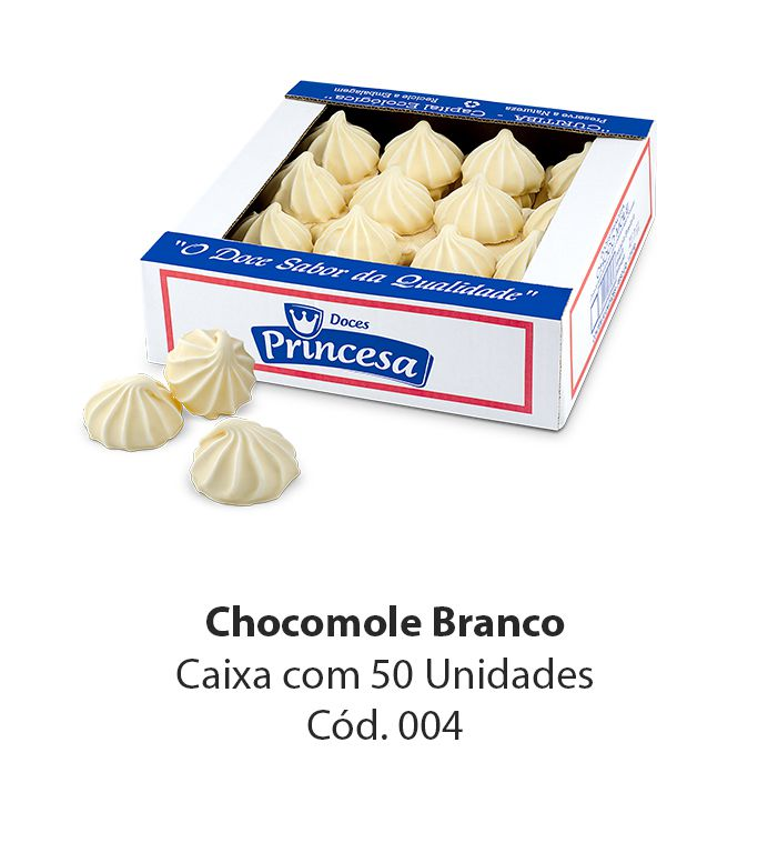CHOCOMOLE PRINCESA BRANCO C/50