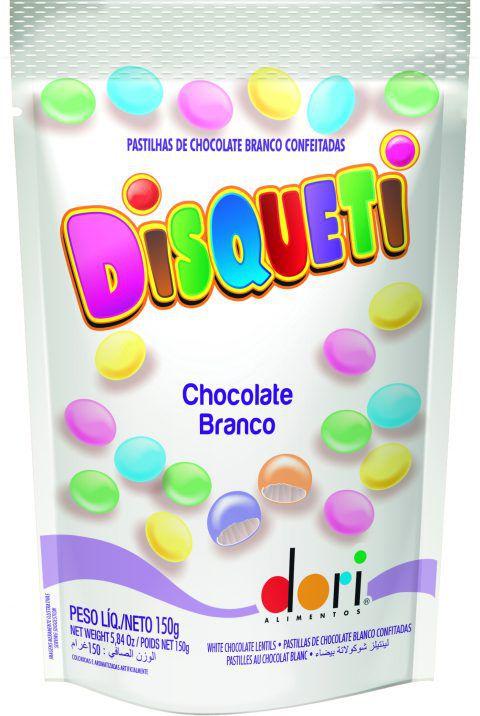 DISQUETI CHOC. BRANCO CONF.POUCH 150GR - DORI