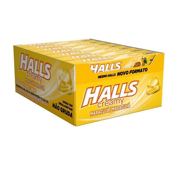 DROPS HALLS CREAMY MARACUJÁ TROPICAL C/21 - ADAMS