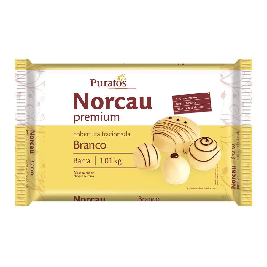 NORCAU BRANCO BARRA 1 KG - PURATOS