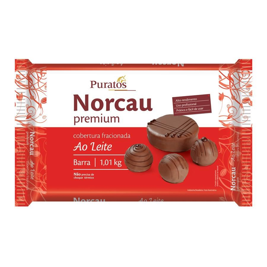 NORCAU PREMIUM AO LEITE BARRA 1KG - PURATOS