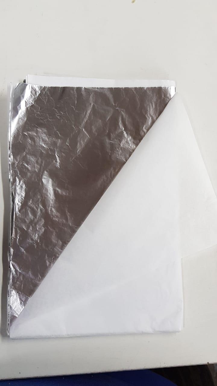 Papel alumínio PRATA pra embalar ovos c/3 unidades