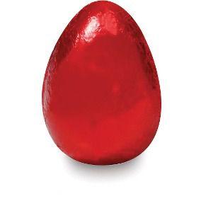 Papel alumínio VERMELHO pra embalar ovos c/3 unidades
