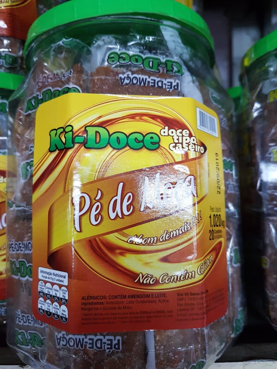 PÉ DE MOÇA C/20 EMBALADO 1,02KG- KI-DOCE