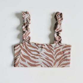 Biquíni Top Ciganinha Zebra Nude