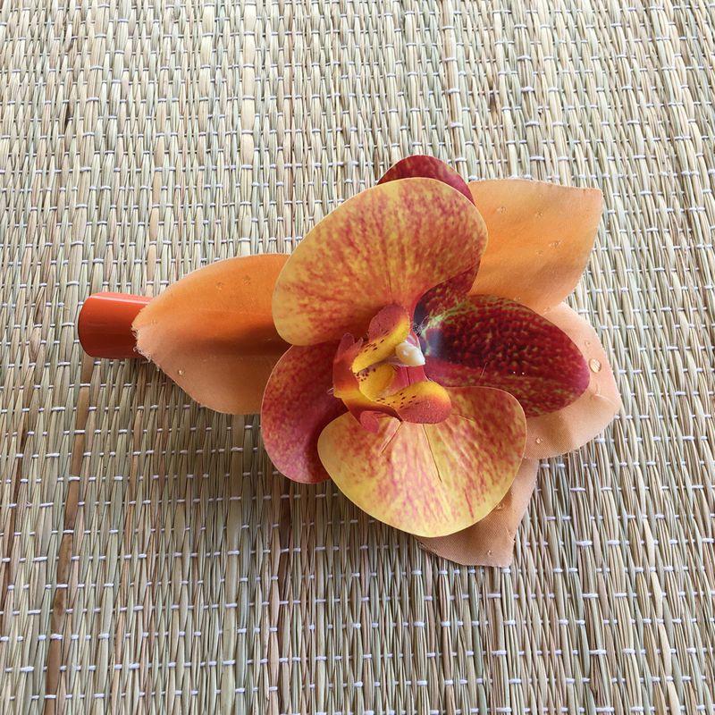 Bico de Pato Orquídea Laranja