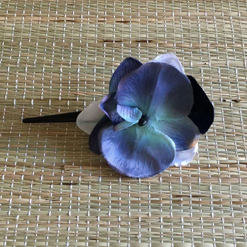 Bico de Pato Preto Orquídea Azul