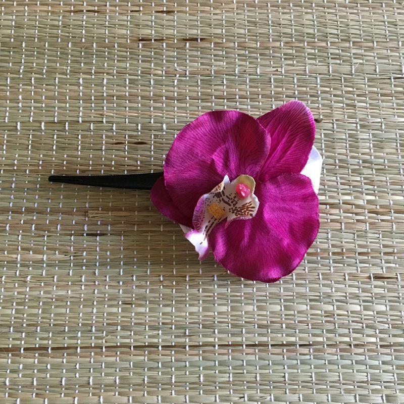 Bico de Pato Preto Orquídea Roxa