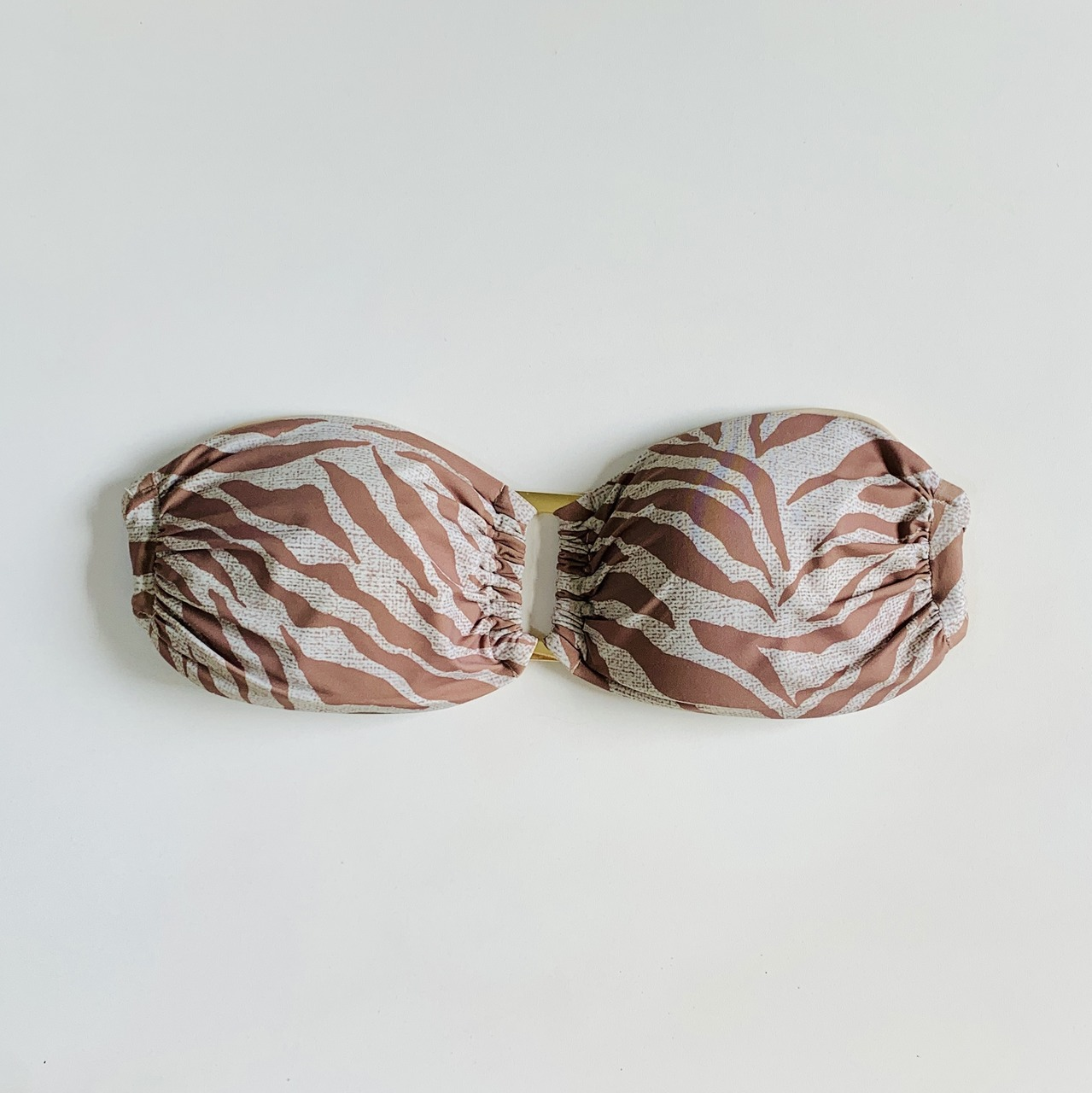 Biquíni Top Tomara que Caia Zebra Nude