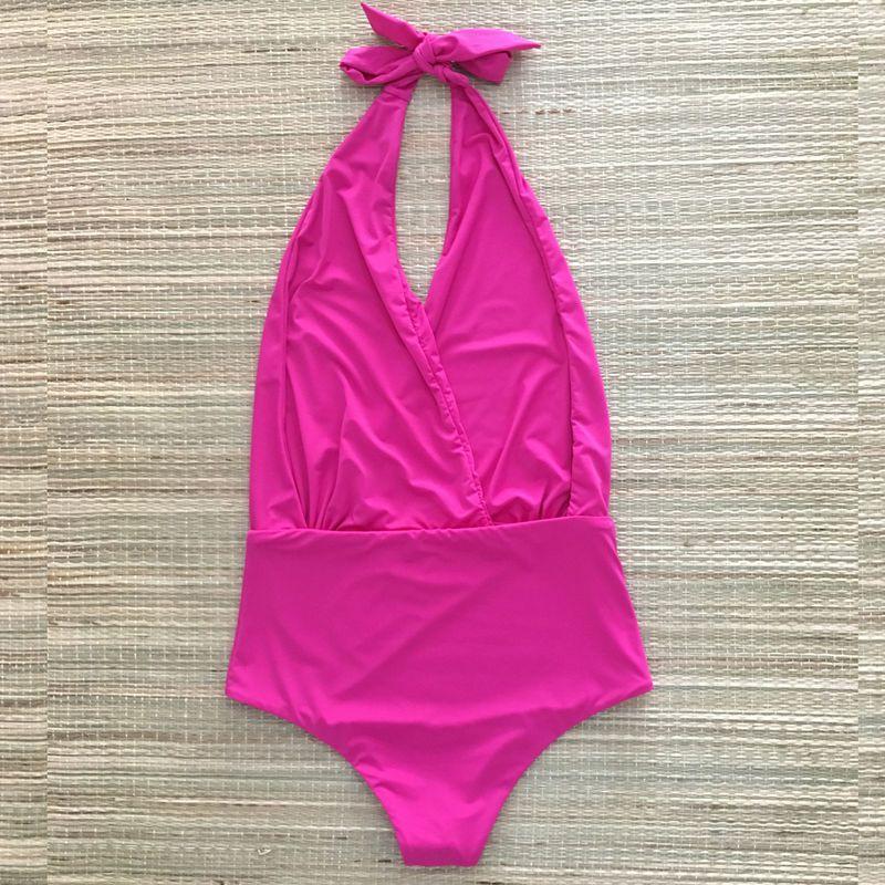 Body Maiô Frente Única Pink