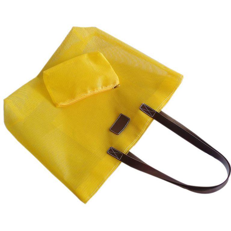 Bolsa Telinha Transparente Amarela