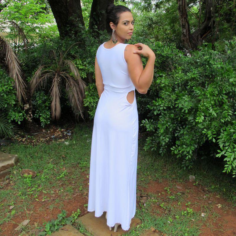 Vestido Longo Aberto Branco