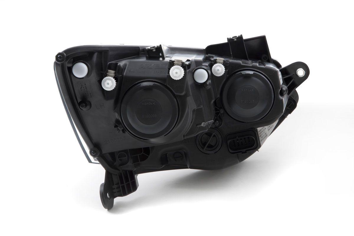 FAROL VW FOX/ SPACEFOX 2015/2018 DUPLO MASCARA NEGRA ARTEB