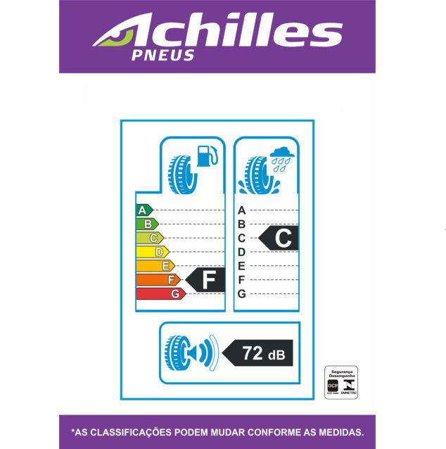Kit 04 Pneus 165/40 R 17 - Atr-k Economist 85v - Achilles