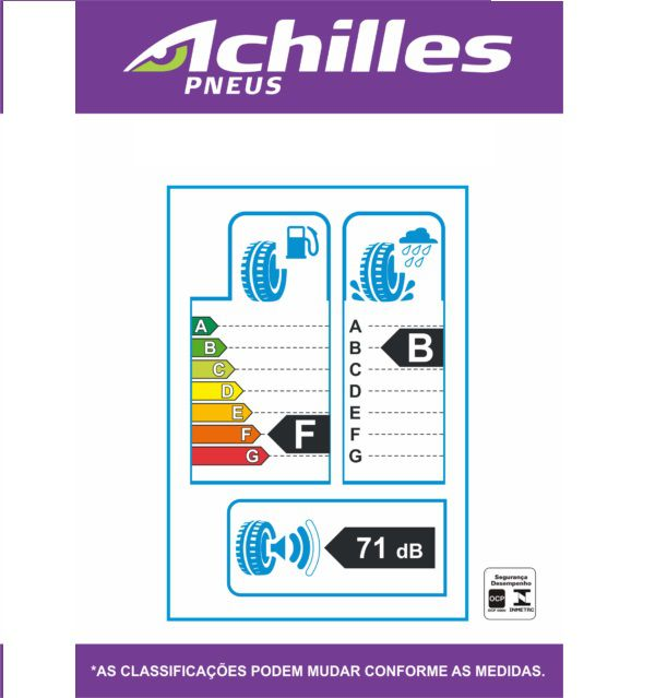 Kit 04 Pneus 165/65 R 13 - 122 77t - Achilles