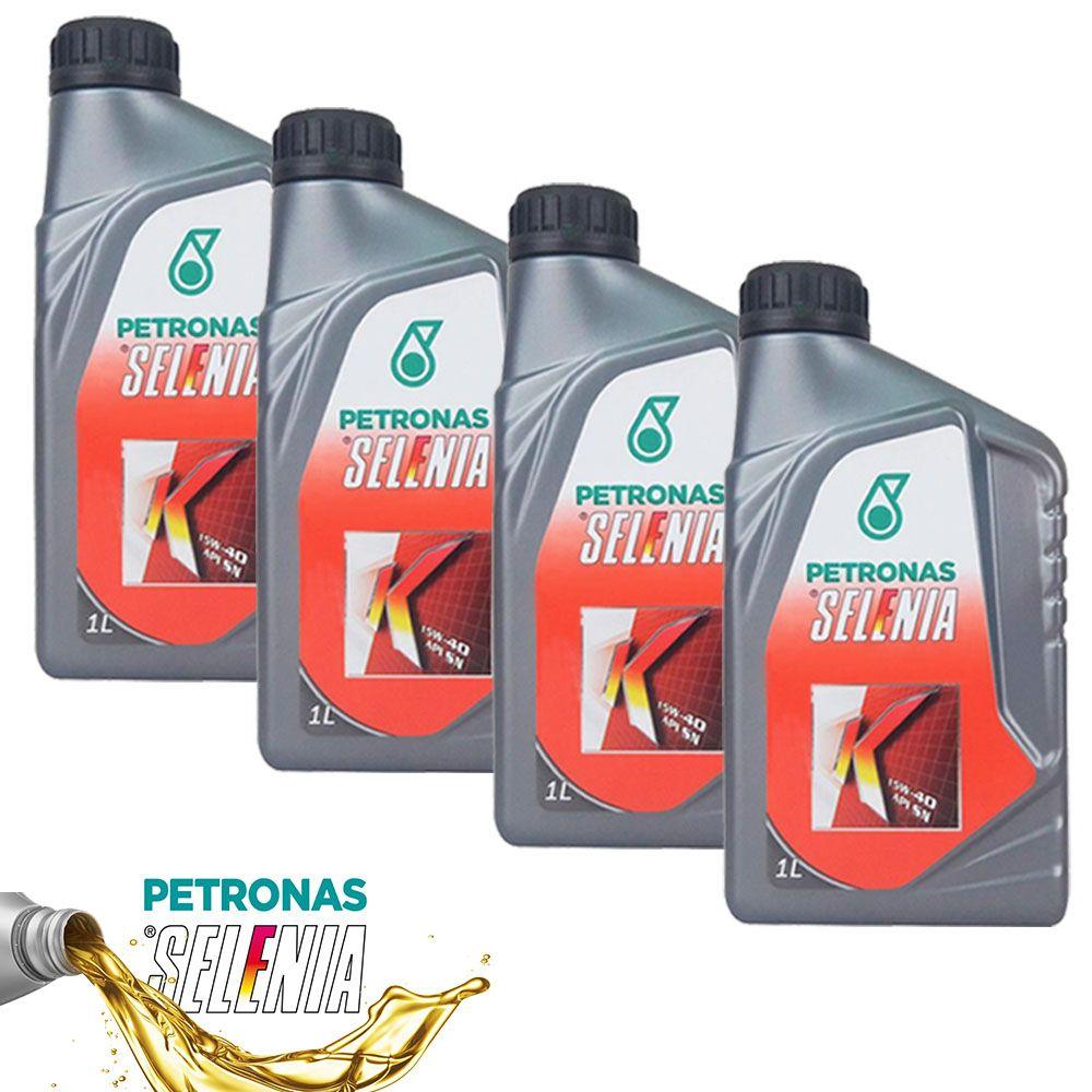 Kit 4 Litros Oleo Motor Selenia K 15w40 S. Sintetico