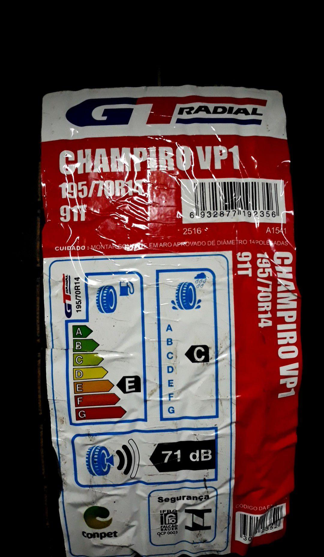 Kit 4 Pneus 195/70 R 14 - Champiro VP1 91T - GT Radial