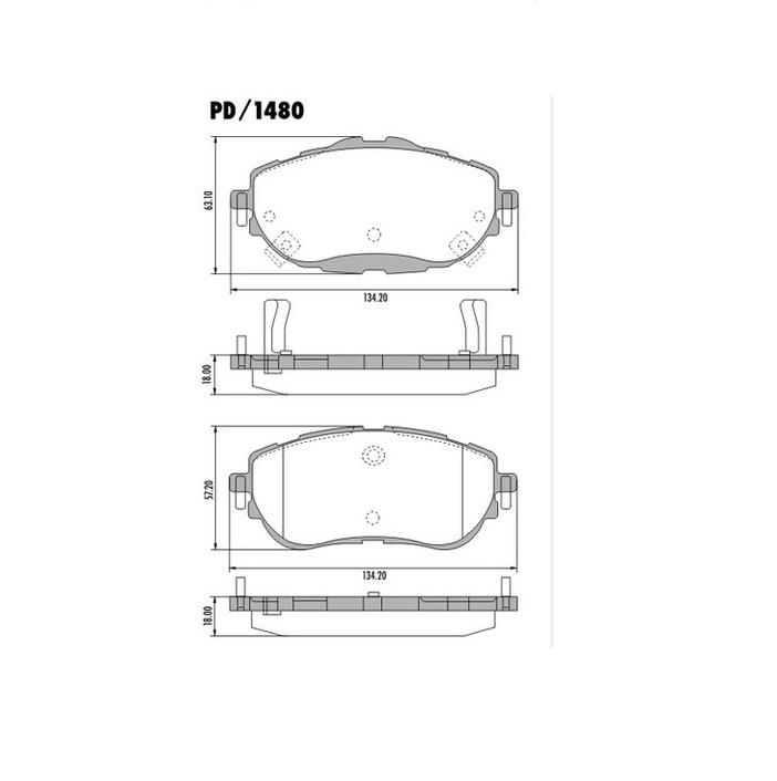 Pastilha De Freio Dianteira Corolla 2015 PD1480 Frasle