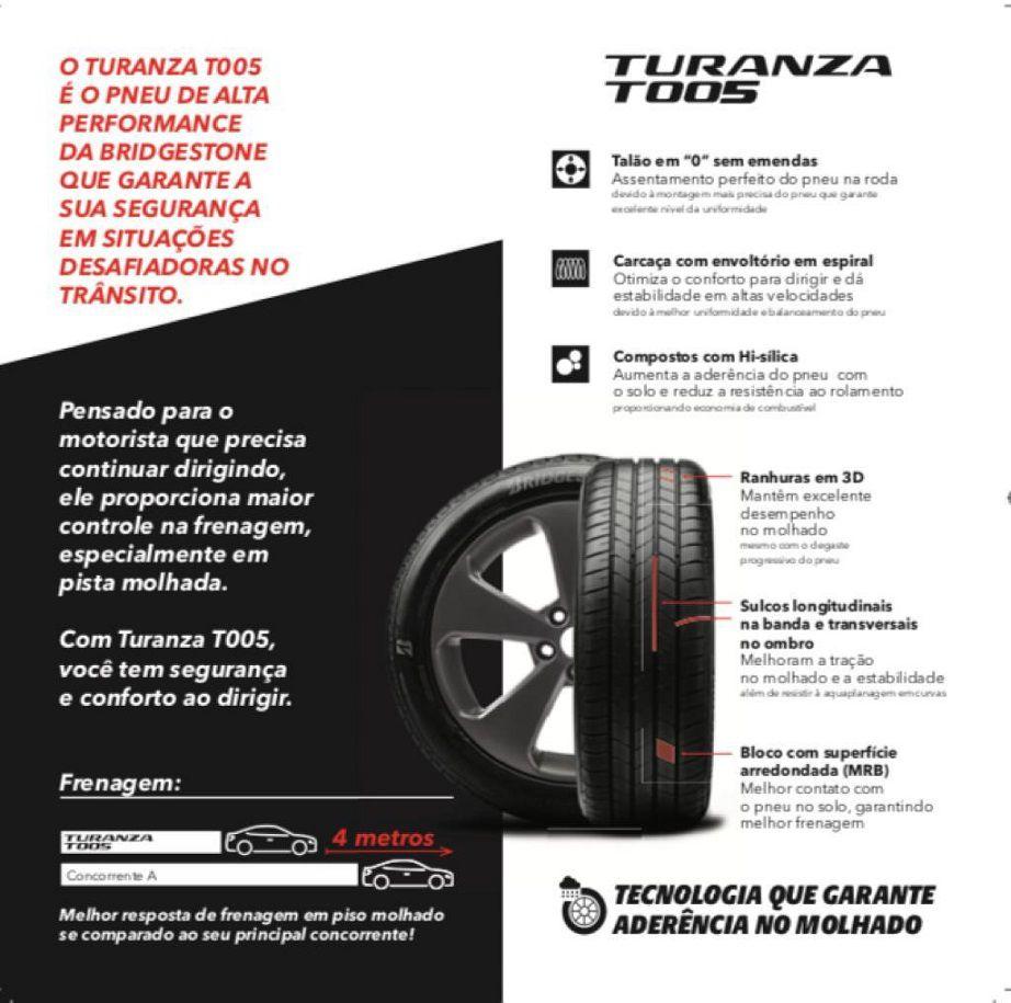 Pneu 205/50 R 17 - Turanza T005 93W - Bridgestone