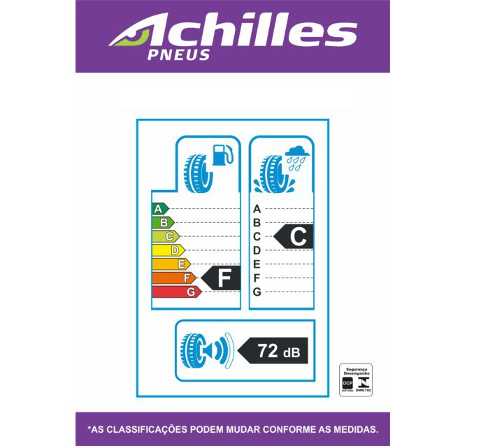 Pneu 225/45 R 17 - 2233 94w - Achilles (VW Golf e Hyundai I30)