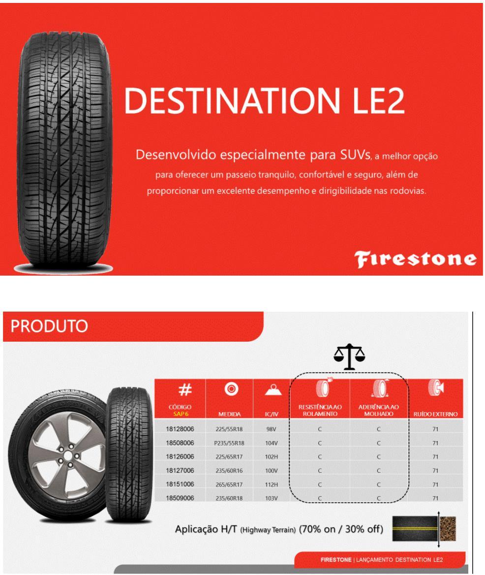 Pneu 225/65 R 17 - Destination LE2 102H - Firestone