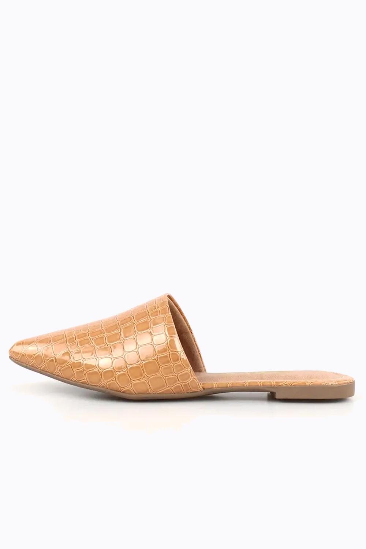 Mule Chiqui Bico Fino Croco Antique AC