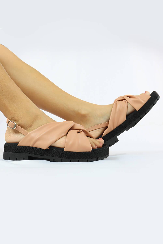 Sandália Chiqui Flatform Napa Soft Antique