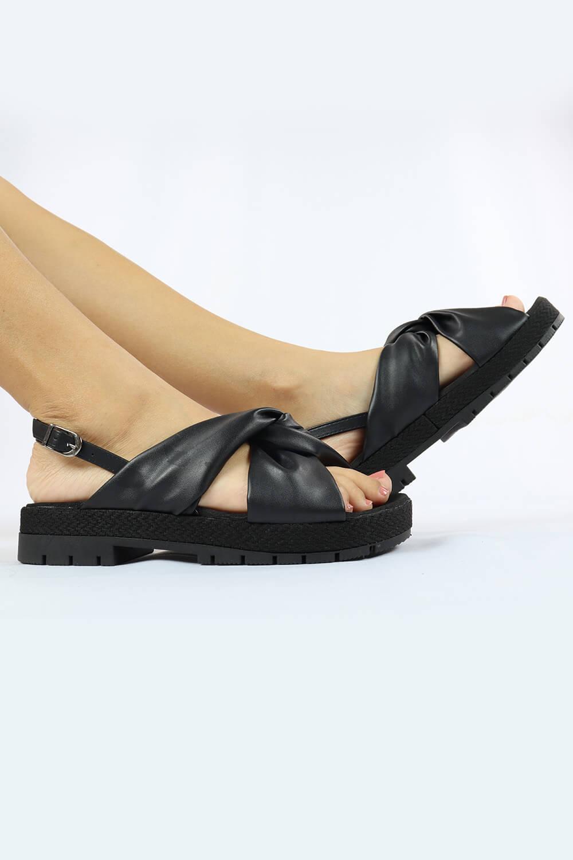 Sandália Chiqui Flatform Napa Soft Preto