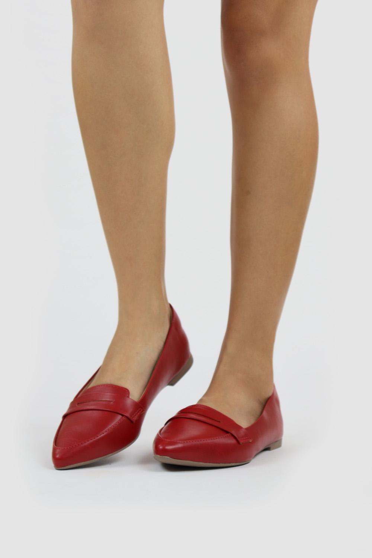 Sapatilha Chiqui Bico Fino Sintético Scarlet AC