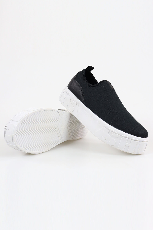 Slip On Chiqui Casual Shoes Helanca Preto AC
