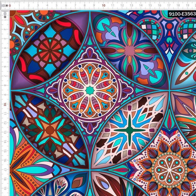 1000 Tons Coleção Digital Vitral - 50cm x 150cm