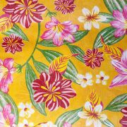Chita Floral Fundo Amarelo