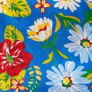 Chita Floral Fundo Azul