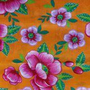 Chita Floral Fundo Laranja