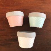 Conjunto de vasinhos cerâmica