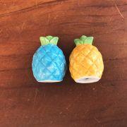 Conjunto pimenteiro e saleiro abacaxi