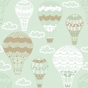 Estampa Bichinhos Baby Balões Verde