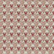 Estampa Bonecas de Pano Corações