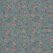 Estampa Digital  Floral Fundo Azul