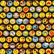 Estampa Emoji Preto