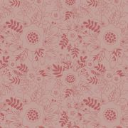 Estampa Floral Rosa Fundo Rosa