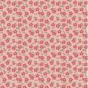 Estampa Garden Micro Floral Rosa e Vermelho