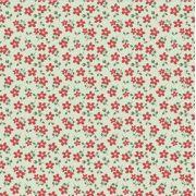 Estampa Garden Micro Floral Verde e Vermelho