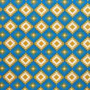 Estampa Geométrica Azul e Amarelo
